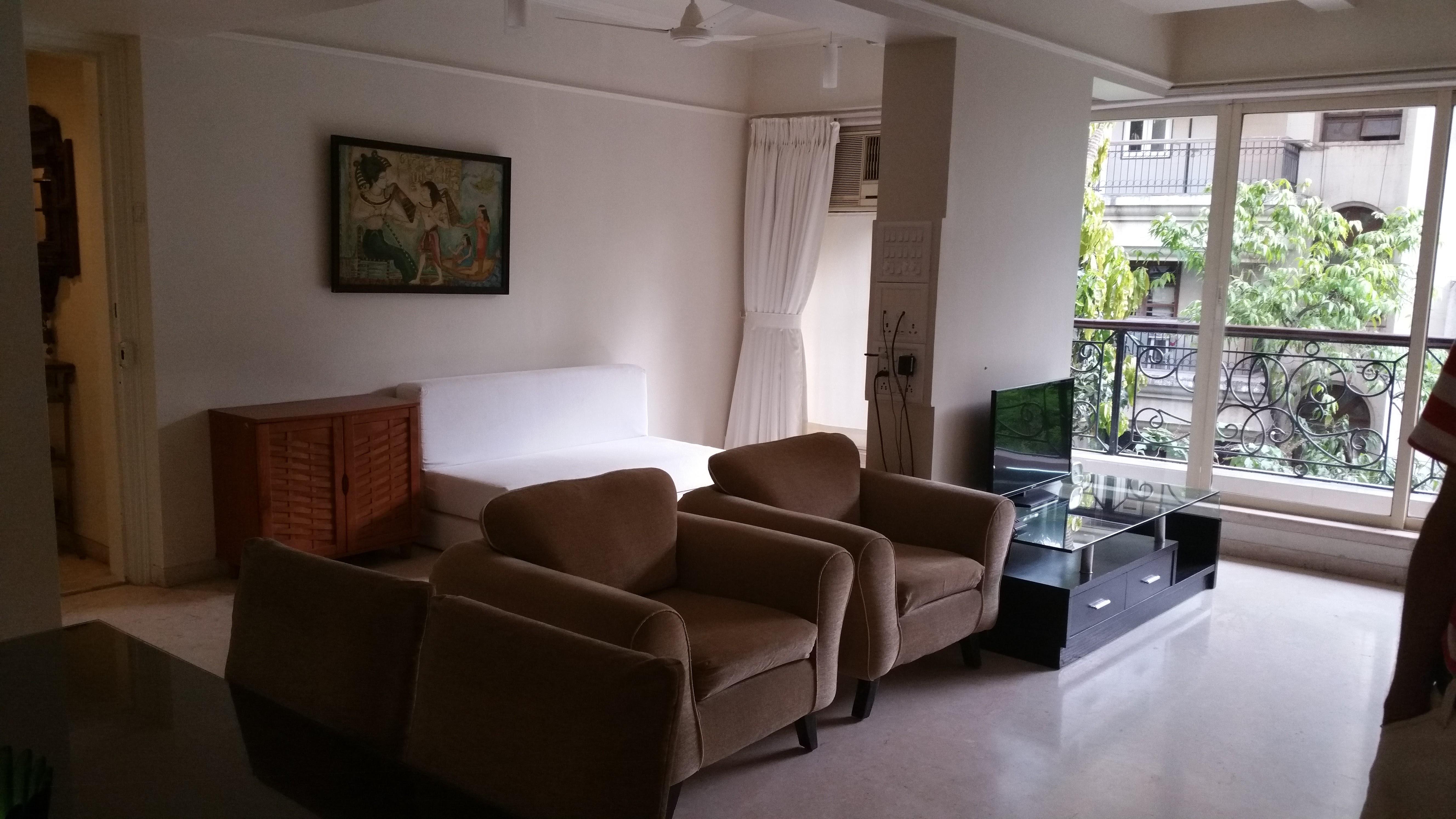 Monthly rental 2 bedroom service apartment santacruz for Cost to clean 2 bedroom apartment